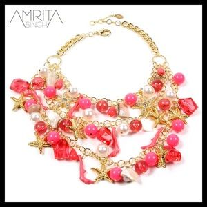 Amrita Singh Austrian crystal and bead necklace